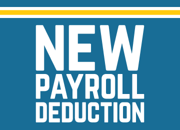 text reading: new payroll deduction